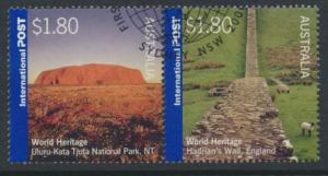 SG 2508a  SC# 2376a  Used se-tenant pair World Heritage Sites