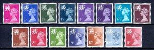 Great Britain (Wales) - Scott #WMMH1//WMMH15 - MNH - SCV $7.95