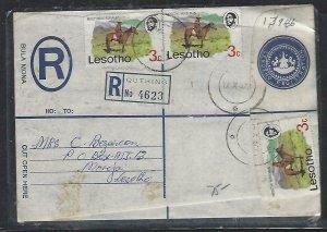 LESOTHO  (PP0609B)  1977    RLE+3C HORSEX3 QUTHING TO MORIJA