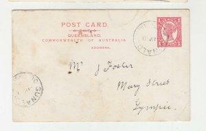 QUEENSLAND, Postal Card 1912 1d. Red, GUNALDA cds. to Gympie.