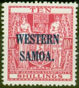Western Samoa 1935 10s Carmine-Lake SG191 V.F MNH