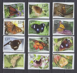 Niuafo'ou 2012 butterflies insects set MNH