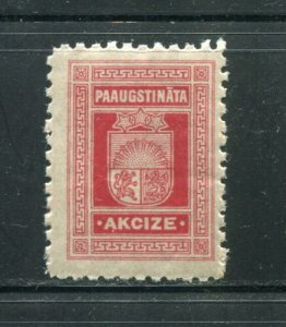 x207 - LATVIA 1920s Increased Excise REVENUE Stamp. Fiscal. MNH