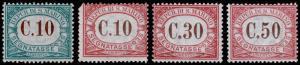 San Marino Scott J2, J11-J13 (1897, 1924) Mint LH VF, CV $9.25
