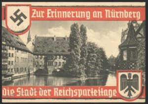 3rd Reich Germany 1937 Reichsparteitag Party Rally Propaganda Card USED E 103167