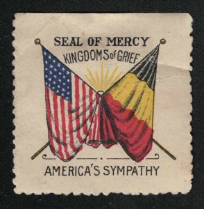 Seal of Mercy, Kingdoms of Grief - America's Sympathy - WWI(?) - Poster Stamp