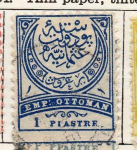 Turkey 1890 Early Issue Fine Used 1p. 254273