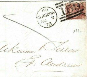 GB SCOTLAND Cover ½d Glasgow *St Rollox* RAILWAY Invoice 1874 {samwells} EA27