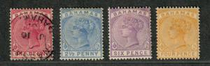 Bahamas Sc#27, 28a, 29-30 M+U/H/F-VF, Partial Set, Cv. $108.25