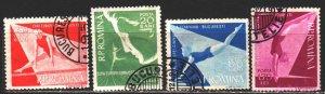 Romania. 1957. 1639-42. European Women's Gymnastics Championships. USED.