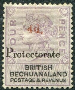 BECHUANALAND-1888 4d on 4d Lilac & Black Sg 51 AVERAGE MOUNTED MINT V48934