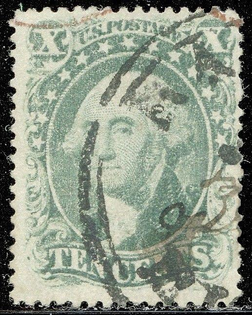 #31 F-VF USED BLACK & RED CANCELS WITH PF CERT CV $1,340.00 HV5356