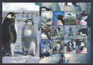 BRITISH ANTARCTIC 2006 Penguins of the Antarctic S/S; Scott C2, SG 424a; MNH
