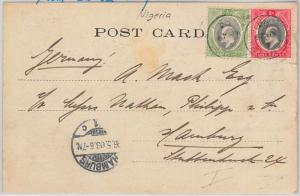 51946 - SOUTHERN  NIGERIA  -  POSTAL HISTORY -  POSTCARD from SAPELE to GERMANY
