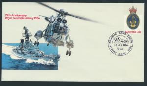 Australia PrePaid Envelope 1986 75th Anniversary Royal Australian Navy