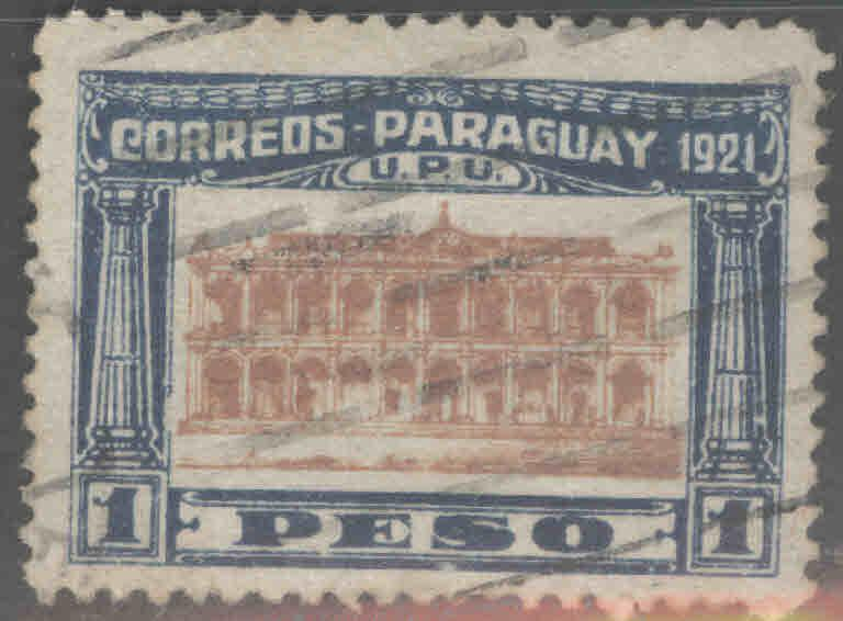Paraguay Scott 244 Used 1 Peso stamp