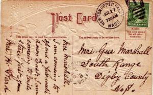 United States Massachusetts Newton Upper Falls 1910 numeral duplex  1c Washin...