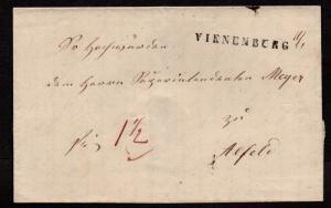 $German Stampless Cover, Vienenburg-Alfeld