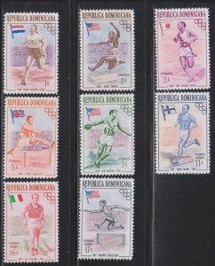 Dominican Republic,  Olympics (SC# 474-478, C97-C99) MNH
