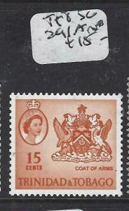 TRINIDAD & TOBAGO   (P2304B)  QEII  15C  SG 291A   MNH