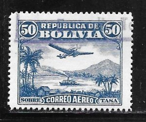 Bolivia C31: 50c Aircraft over Lake Titicaca, used, F-VF