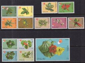 Palau 414-421 Flowers MNH VF