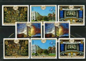 FUJEIRA 1970 Mi#505-508 UNITED NATION 2 SETS OF 4 STAMPS PERF. & IMPERF. MNH