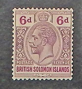 Solomon Islands 35. 1914 6p Dull violet & red violet KGV