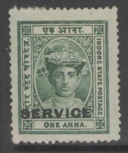INDIA-INDORE SGS3 1904 1a GREEN MTD MINT