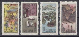 Vietnam 1965 MNH Stamps Scott 390-393 Mountains Museum Poet Literature Nguyen Du