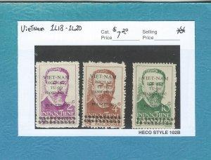 Vietnam 1L18-1L20  MNH (Mint VLH on 1L20)