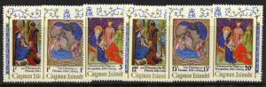 Cayman Islands 291-6a MNH Christmas, Art, Nativity, Adoration of the Kings