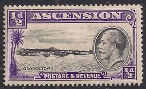 Ascension Island 1934 KGV 1/2d George Town MM SG 21 ( B350 )