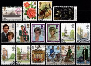 Great Britain 1972+ Commemorative selection (46 all different) [Used]