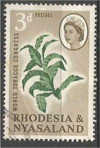 RHODESIA & NYASALAND, 1963, used 3p, Tobacco, Scott 184