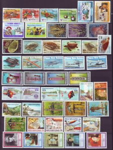 J21847 Jlstamps 11 1982-86 png sets mnh 571//644 good value