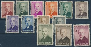 TURKEY/1948 - ISMET INONU COMPLETE SET, MNH