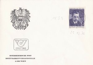 AUS155) Austria 1976 50th Anniversary Of The Death Of Rainer Maria Rilke