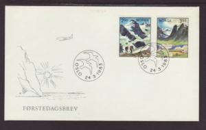 Norway 819-820 Landscape 1983 U/A FDC