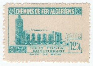 (I.B) France Colonial Railway : Algeria Chemins de Fer 12.4F