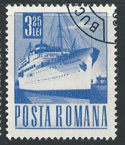 Romania #1986 3.25L Steamship