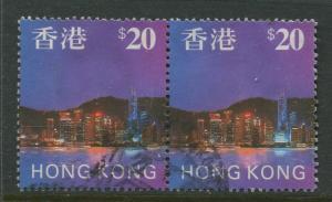 STAMP STATION PERTH Hong Kong #777 QEII Definitive 1997 FU Pair CV$10.50.