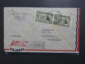 Uruguay 1950s Airmail Cover to Czechoslovakia - Z8134
