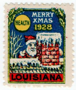 (I.B) US Cinderella : Louisiana Christmas Seal (1928)