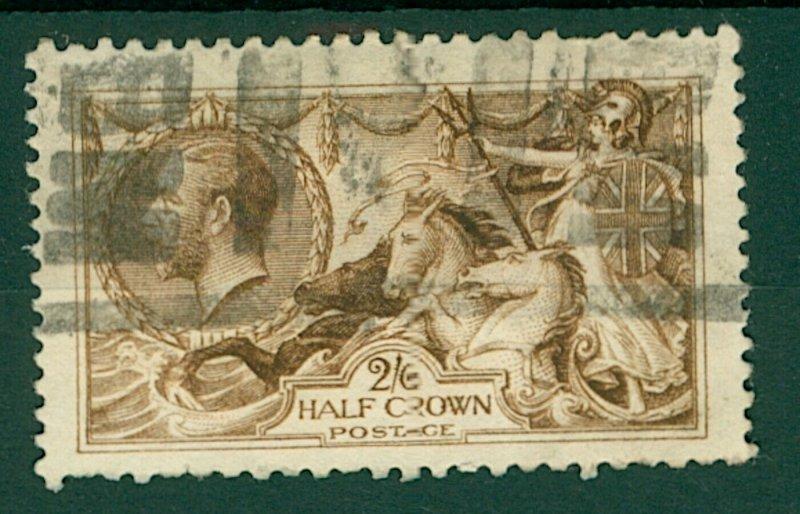 GB KGV 1910/36  2/6d brown Seahorse cv£70+ (1v) Used Stamp