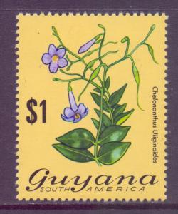 Guyana Scott 145, 1971 Flowers $1 MH*
