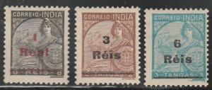 Portuguese India #472-474 Mint Hinged Full Set of 3