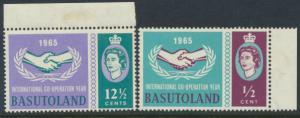 Lesotho / Basutoland  SG 100 / 101 set Mint never Hinged - Internation Co-ope...