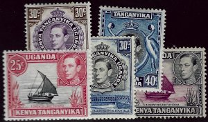 Kenya Uganda & T 75-78 Mint, 79 Used F-VF Value $7.50...Awesome!