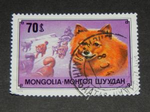 MONGOLIA 1978 DOGS 70M USED